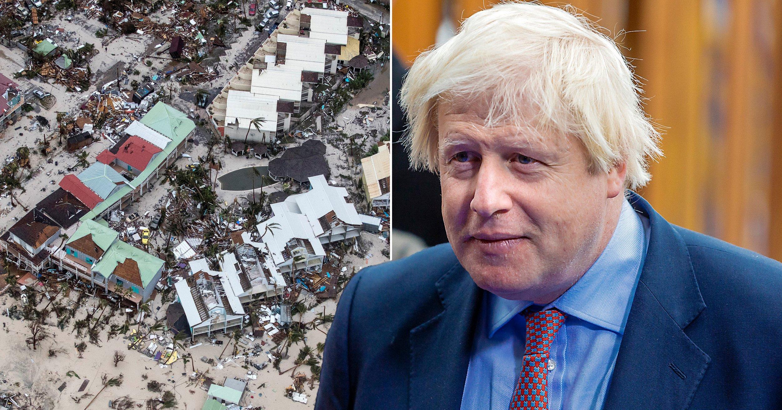 Boris Johnson defends UK's 'pitiful' response to Hurricane Irma