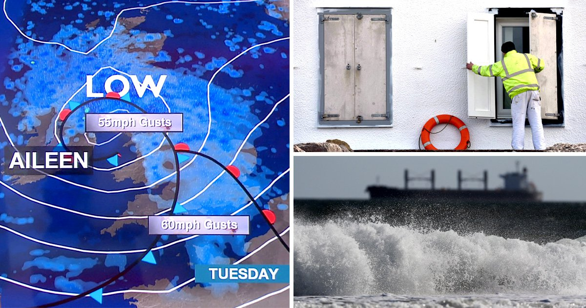 Storm Aileen set to batter Britain with 75mph gales and downpours