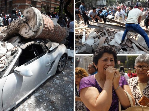 At least 100 dead as buildings collapse across Mexico City after powerful earthquake