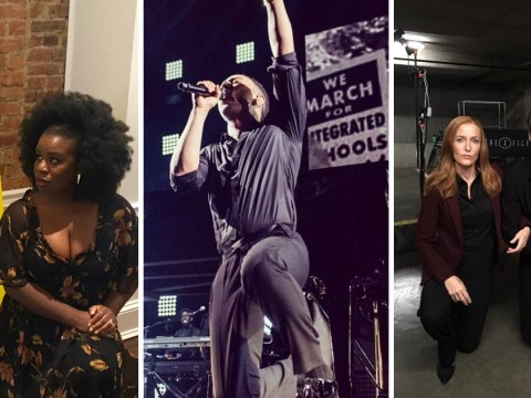 Gillian Anderson, David Duchovny, John Legend and Uzo Aduba join 'take a knee' protest