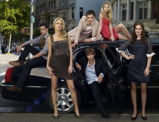 Gossip Girl cast Penn Badgley, Ed Westwick, Taylor Momsen, Blake Lively, Chace Crawford and Leighton Meester