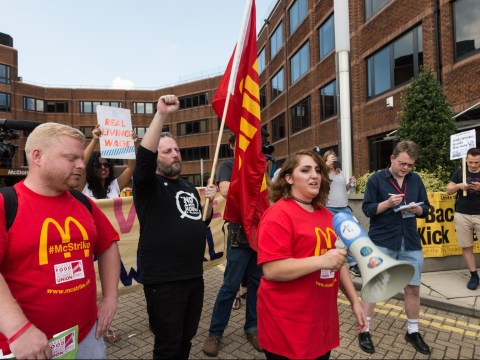 McDonald's staff have walked out today and are striking for the first time