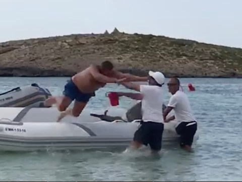 Tourist launches comical attack on man after being woken up on dinghy