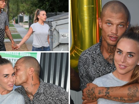 Chloe Green and Jeremy Meeks can't resist another PDA at Hurricane Harvey benefit