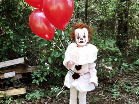 3-year-old dresses up as Pennywise the Clown for terrifying photoshoot