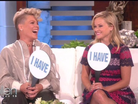 Reese Witherspoon and Pink admit to sex in public places in game of Never Have I Ever