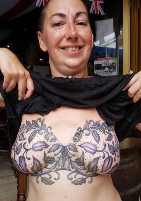 Mum Who Battled Breast Cancer Gets Beautiful Optical Illusion Bra