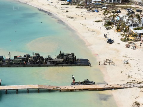 Royal Navy finally lands to help victims of Hurricane Irma in Anguilla