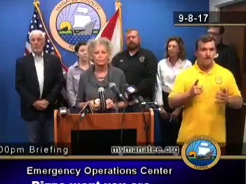 Rogue sign language interpreter warned about bears and monsters in Hurricane Irma update