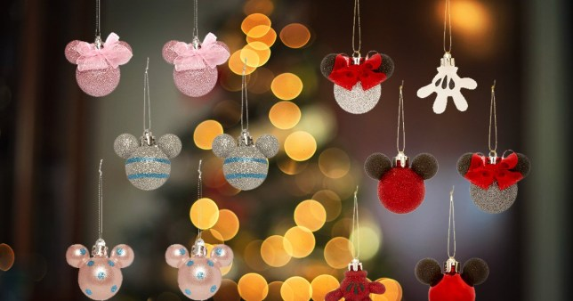 Mickey And Minnie Mouse Christmas Tree Decorations.Primark Is Selling Mickey And Minnie Mouse Themed Christmas