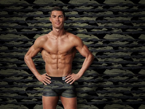 Cristiano Ronaldo ponders what it's like to be invisible in tiny camouflage pants