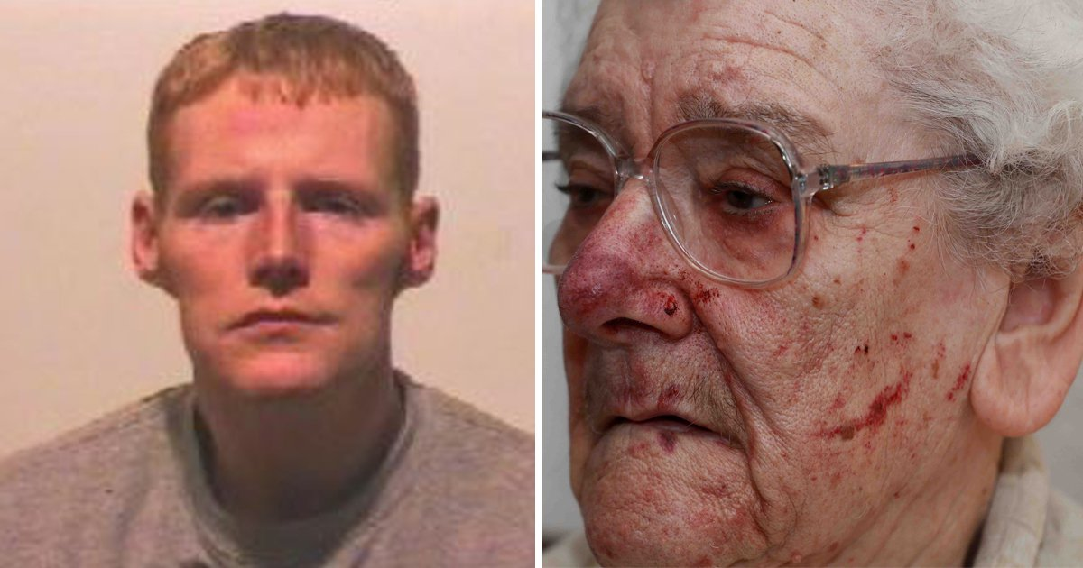Thug who battered defenceless woman, 83, in her own home for £5 is jailed