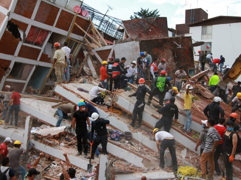 Young girl rescued from rubble of collapsed school after deadly earthquake