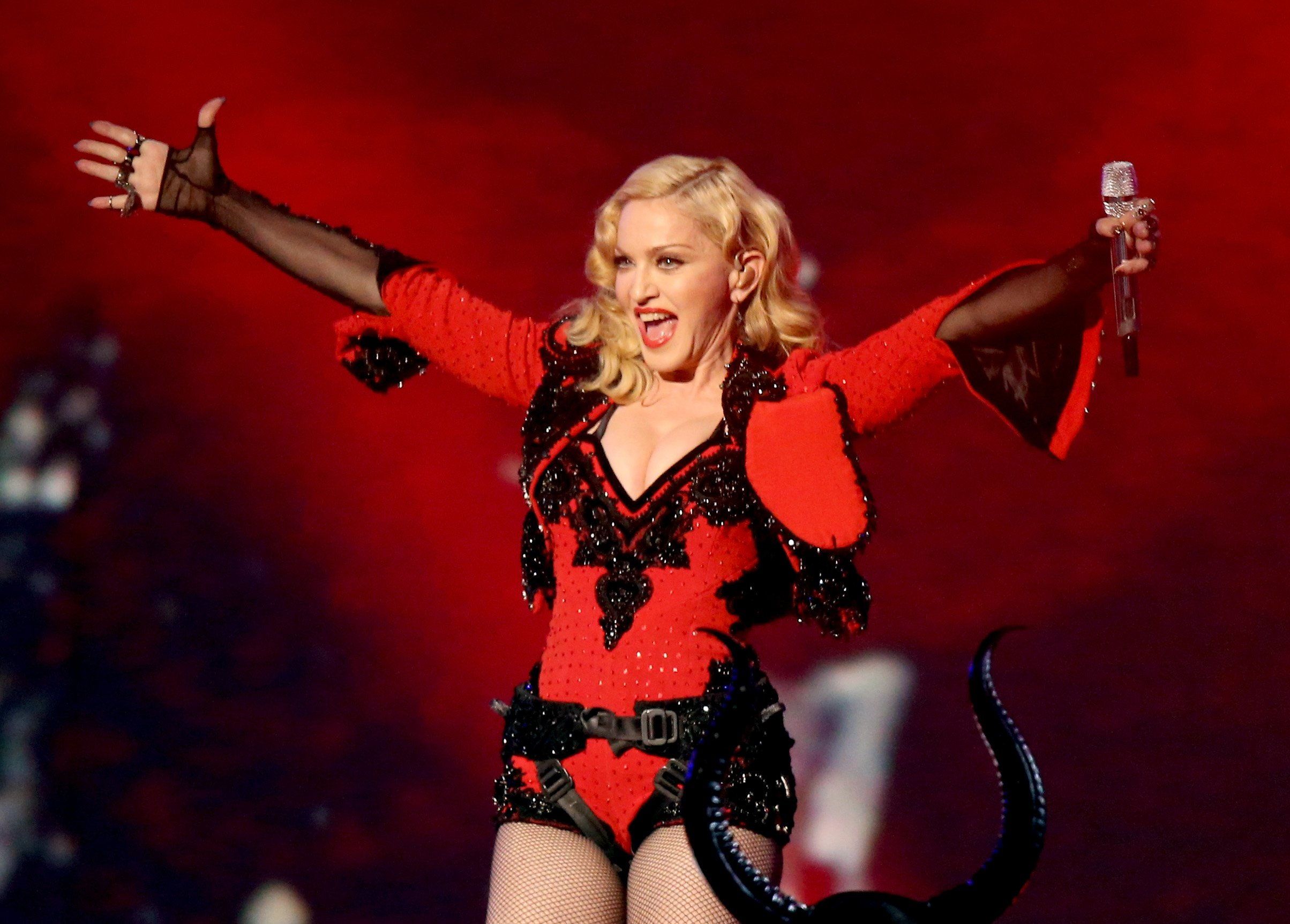 Madonna teases more music as she heads back into the studio