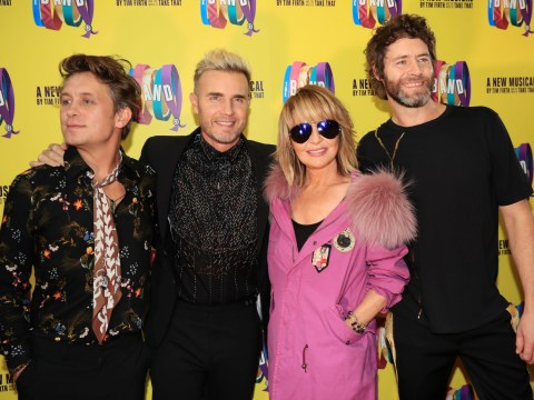 Lulu joins Take That on stage for fiery finale of new musical The Band