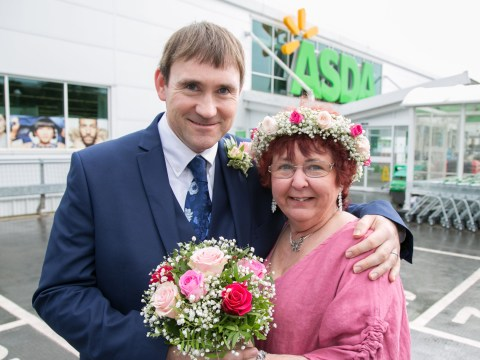 Couple hold wedding reception in Asda cafe after first meeting there three years ago