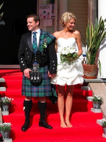 Ruari, pictured on his wedding day, experienced suicidal thoughts from a young age. Later in his adult life he realised that alcohol often led to destructive thoughts (Picture: Ruari Fairbairns)