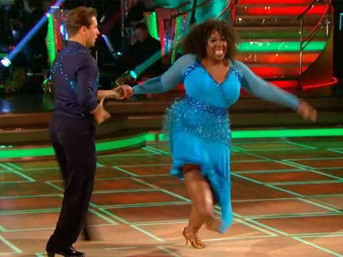 Chizzy Adukolu has first Strictly wardrobe malfunction of the series after stepping on her dress