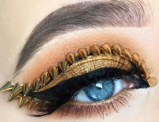 studded makeup trend