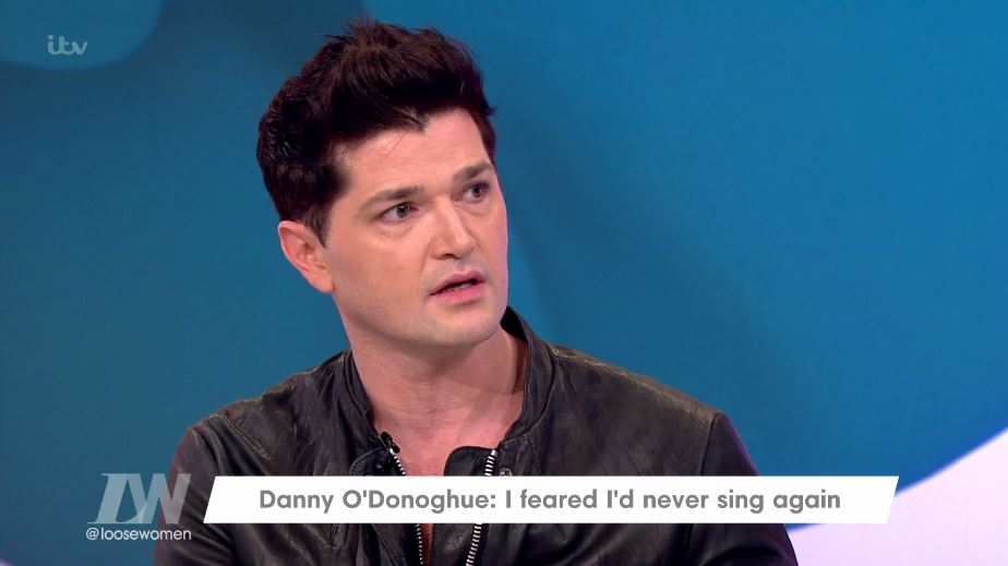 The Script's Danny O'Donoghue opens up about fears of never singing again following surgery on Loose Women