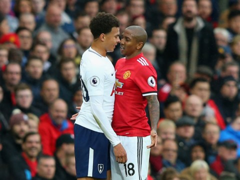 Ashley Young absolutely destroys Dele Alli during Manchester United v Tottenham Hotspur