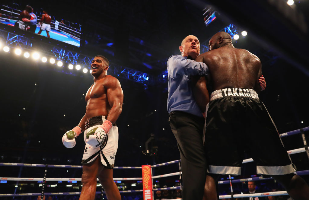 Anthony Joshua gives verdict on ref stoppage as fans boo decision in Cardiff