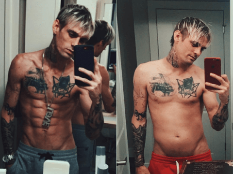 Aaron Carter shows off body transformation after leaving rehab to address 'personal matters'