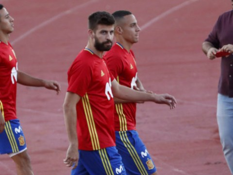Gerard Pique abused during Spain training after Barcelona star offered backing to Catalonia independence