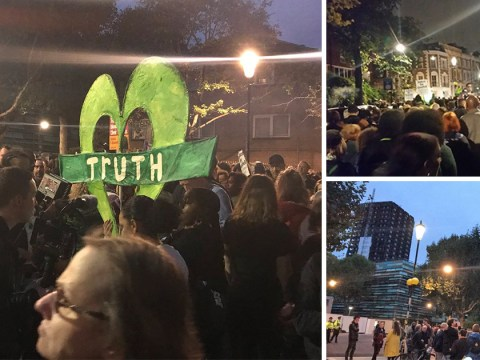 Mourners march to Grenfell Tower in complete silence in memory of fire victims