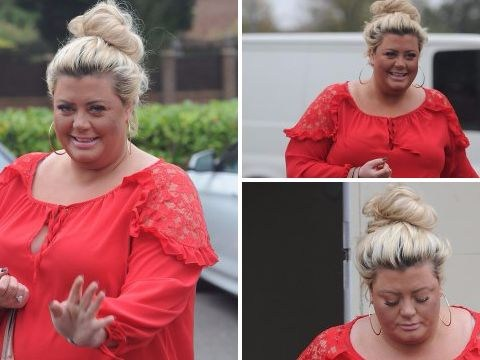 Gemma Collins is all smiles as she is seen for the first time since Radio 1 Teen Awards tumble