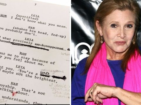 Carrie Fisher's annotated Star Wars script goes up for auction
