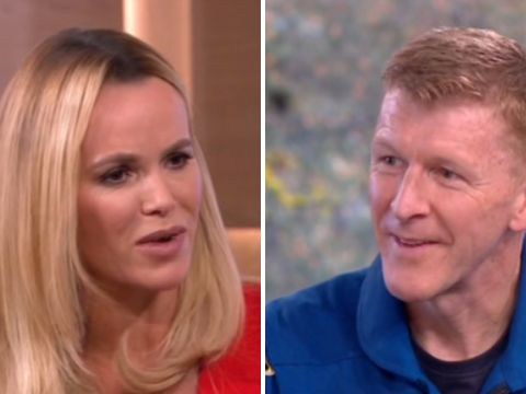 Amanda Holden asks Tim Peake about walking on the moon (even though he never left the space station)