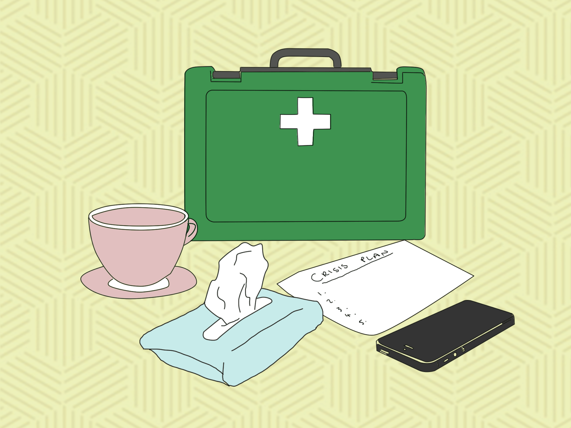 Sometimes all you need in a mental health first aid kit is tissues and some kindness