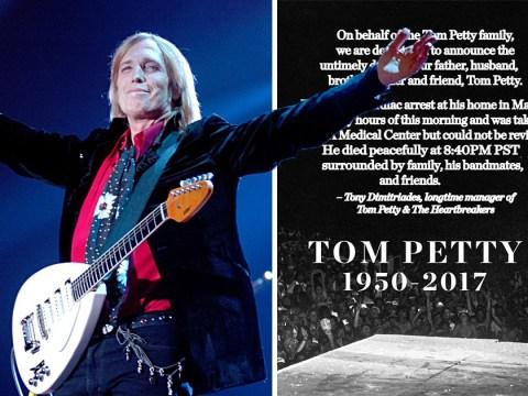 Tom Petty dies age 66 after suffering cardiac arrest