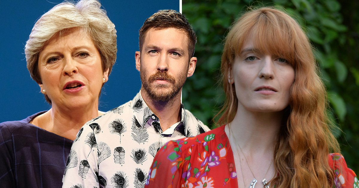 Calvin Harris and Florence Welch blast Conservative Party for using their music 'without permission'