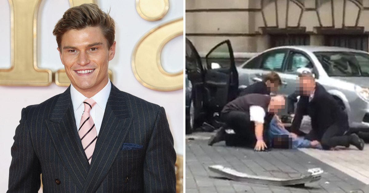 Pixie Lott's fiancé helped 'pin down' cab driver who hit pedestrians in Natural History Museum crash