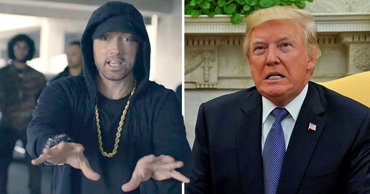 Eminem raps about Black Lives Matter on new track after taking on Donald Trump in new interview