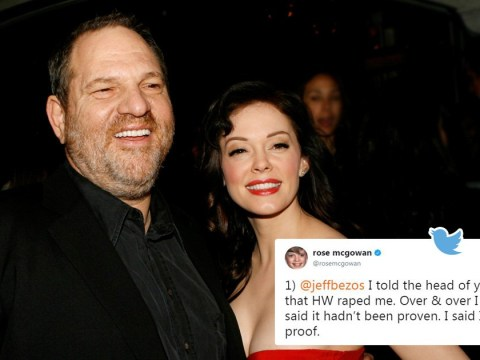 Rose McGowan alleges she was raped by Harvey Weinstein