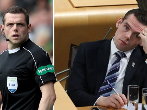 Tory MP Douglas Ross missing crucial vote on benefits to referee a football match