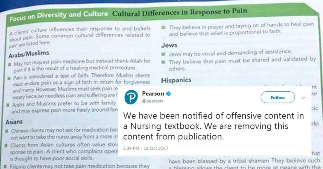 'Racist' nursing textbook pulled from sale