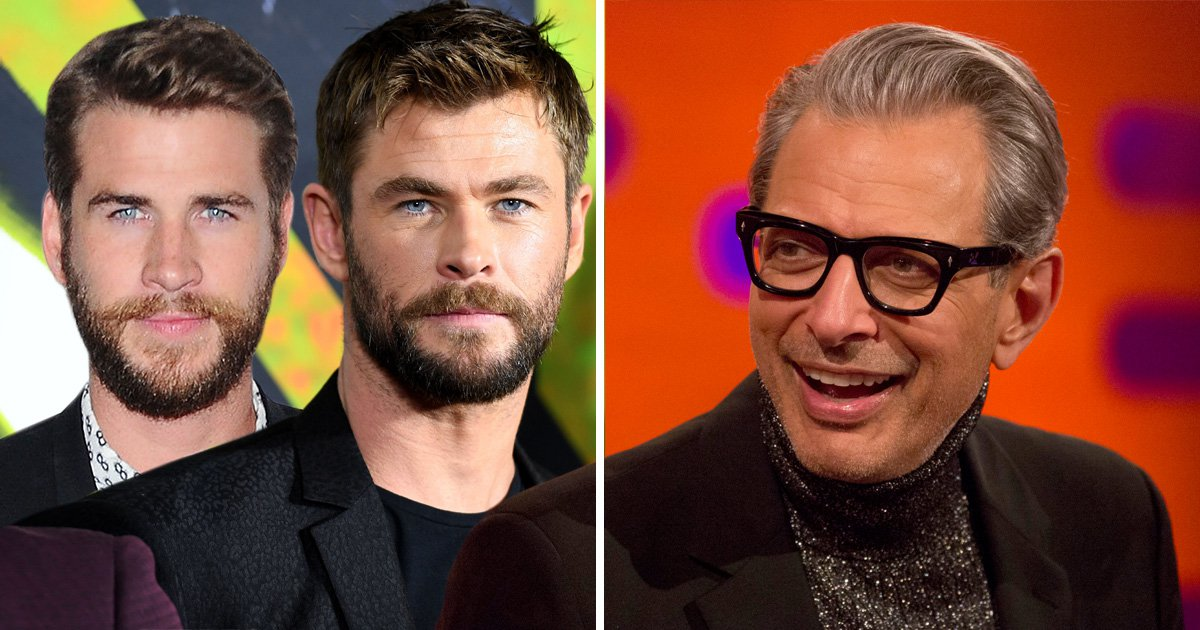 Jeff Goldblum gushes about working with Chris and Liam Hemsworth: 'They're beautiful'