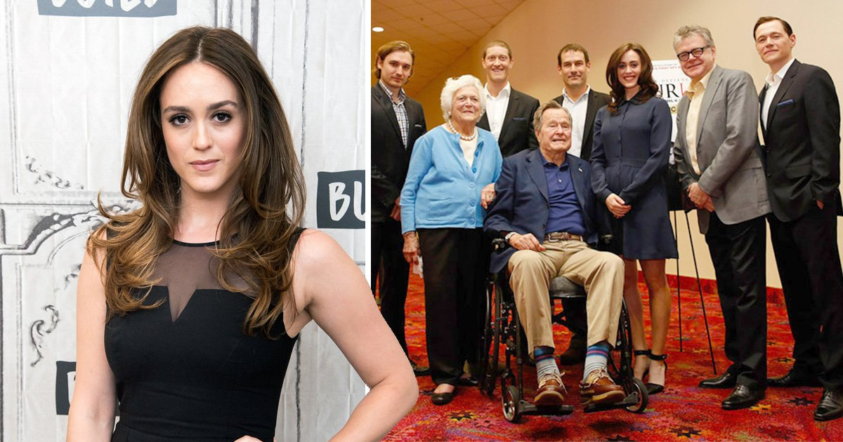 George HW Bush apologises for 'sex assault' from his wheelchair in this picture
