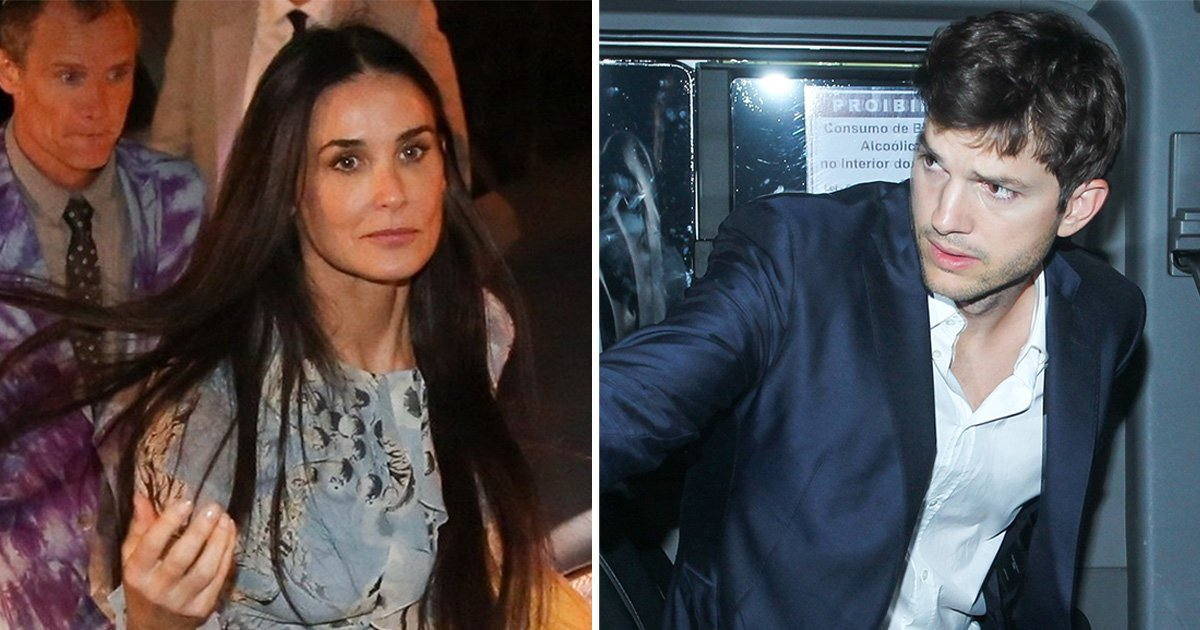 Ashton Kutcher and Demi Moore pictured at the same party for the first time since marriage split