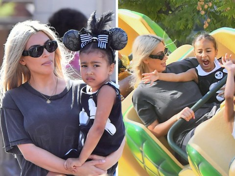 Babies day out: Kim Kardashian celebrates her birthday with North and Saint at Disneyland