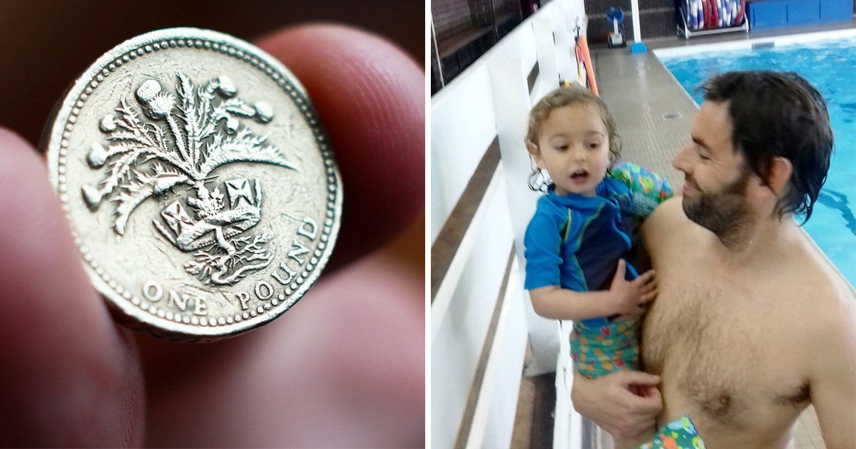 Dad threatened with police action for using old £1 coin to pay to get into pool