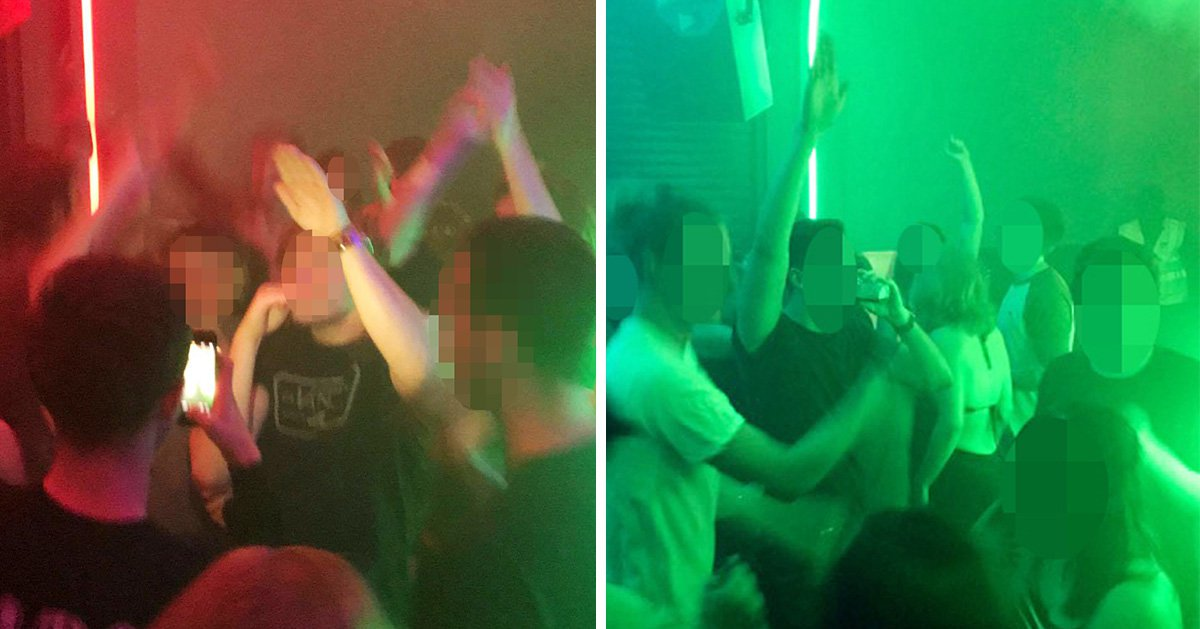 Shocking photos show group of young men 'making Nazi salutes' at student nightclub