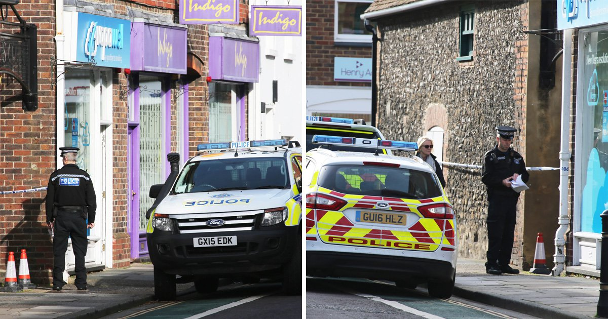 Woman's body found hanging from shop doorway