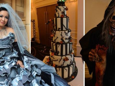 Australian couple tie the knot in Halloween themed wedding