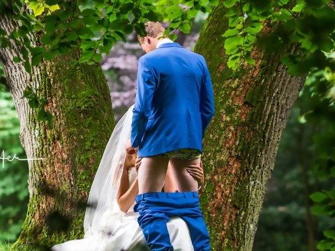 Mother-in-law suggests bride gives groom blow job in wedding photo