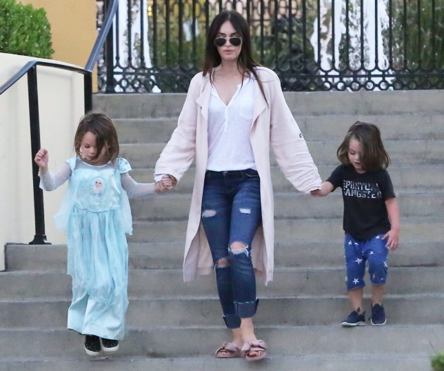 Megan Fox's son Noah wears Frozen Elsa dress on family day ...